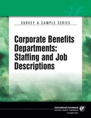 Corporate Benefit Departments - Staffing and Job Descriptions PDF
