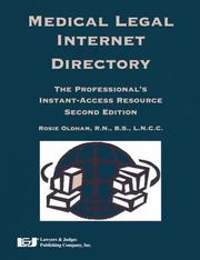 Medical Legal Internet Directory by Rosie Oldham