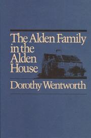 The Alden Family in the Alden House by Dorothy Wentworth
