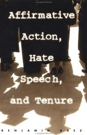 Affirmative Action, Hate Speech, and Tenure PDF