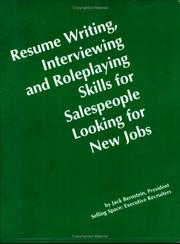 Resume Writing Interviewing and Role-Playing Skills for Salespeople PDF