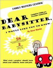 Dear Babysitter, I Would Like You to Know.. PDF
