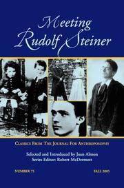 Meeting Rudolf Steiner PDF