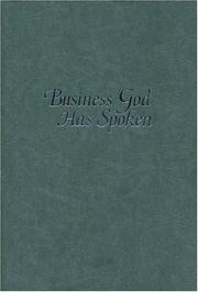 Business God Has Spoken