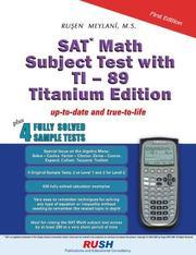 Sat Math Subject Test With Ti-89 PDF