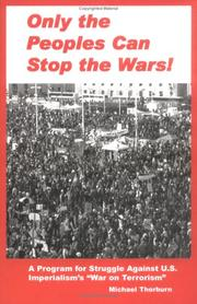 Only the Peoples Can Stop the Wars PDF