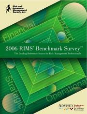 2004 RIMS Benchmark Survey Book Advisen and David Bradford