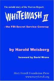 Whitewash II by Harold Weisberg