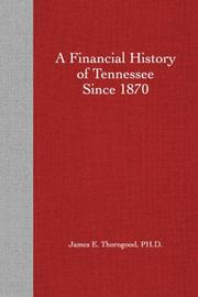 A Financial History of Tennessee Since 1870 PDF