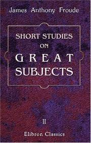 Short Studies on Great Subjects PDF