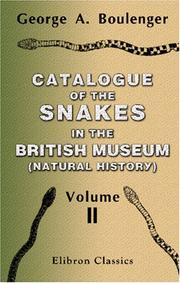 Catalogue of the Snakes in the British Museum PDF