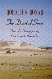 The desert of Sinai by Horatius Bonar
