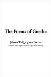 Cover of: The Poems of Goethe by John Leonard Greenberg