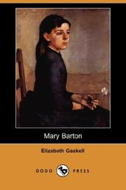 Cover of: Mary Barton (Dodo Press) by Elizabeth Cleghorn Gaskell