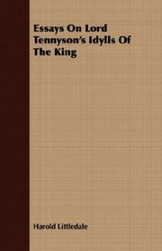 Essays on Lord Tennyson's Idylls of the king PDF