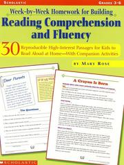 Week-By-Week Homework for Building Reading Comprehension & Fluency by Mary Rose