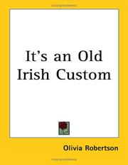 It's an old Irish custom by Olivia Robertson