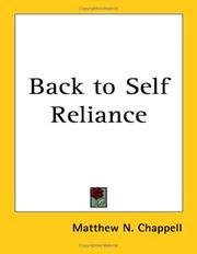 Back to Self Reliance PDF