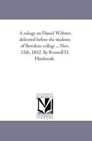 A Eulogy on Daniel Webster