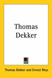 Thomas Dekker by Thomas Dekker