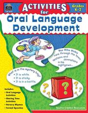 Activities for Oral Language Development PDF