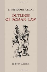Outlines of Roman Law PDF
