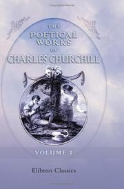 The poetical works of Charles Churchill PDF