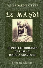 Le Mahdi by James Darmesteter