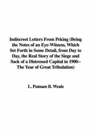 Indiscreet Letters from Peking PDF