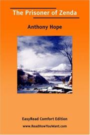 Cover of: The Prisoner of Zenda [EasyRead Comfort Edition] by Anthony Hope
