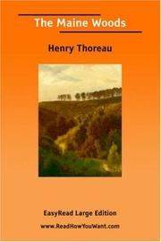 Cover of: The Maine Woods [EasyRead Large Edition] by Henry David Thoreau