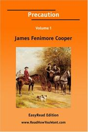 Cover of: Precaution [EasyRead Edition] by James Fenimore Cooper