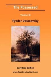 The Possessed Volume III PDF