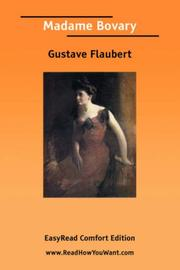 Cover of: Madame Bovary [EasyRead Comfort Edition] by Gustave Flaubert