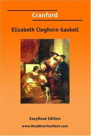 Cover of: Cranford [EasyRead Edition] by Elizabeth Cleghorn Gaskell