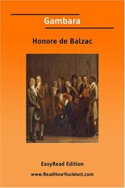 Cover of: Gambara [EasyRead Edition] by Honoré de Balzac