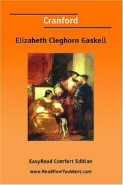 Cover of: Cranford [EasyRead Comfort Edition] by Elizabeth Cleghorn Gaskell