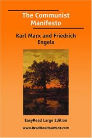 Cover of: The Communist Manifesto [EasyRead Large Edition] by Karl Marx
