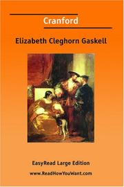 Cover of: Cranford [EasyRead Large Edition] by Elizabeth Cleghorn Gaskell