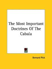 The Most Important Doctrines of the Cabala PDF