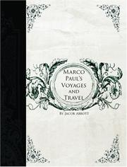 Marco Paul's Voyages And Travels PDF