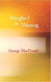 Weighed and wanting PDF