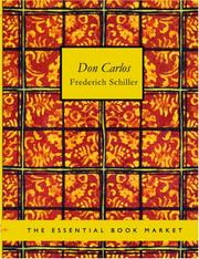 Cover of: Don Carlos (Large Print Edition) by Friedrich Schiller