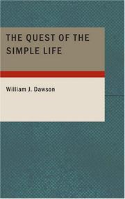 The Quest of the Simple Life PDF