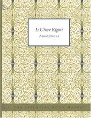 Is Ulster Right? PDF