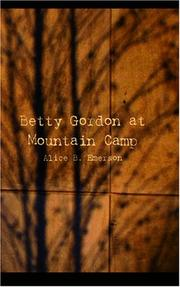 Betty Gordon at Mountain Camp by pseud. Alice B. Emerson
