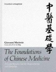 The foundations of Chinese medicine by Giovanni Maciocia