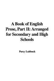A Book of English Prose, Part II PDF