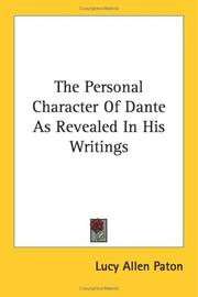 The Personal Character Of Dante As Revealed In His Writings PDF
