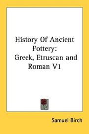 History of ancient pottery by Samuel Birch
